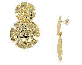 Boucles d'oreilles pendants argent doré Stepec - 3130134D