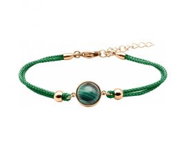 Bracelet acier & malachite - IG 376