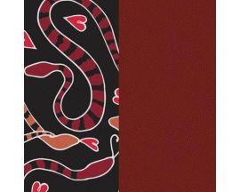 Cuir bracelet Les Georgettes - Serpent coeurs/Carmin 14 mm