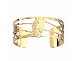 Bracelet manchette Les Georgettes - Osiris finition or 25 mm