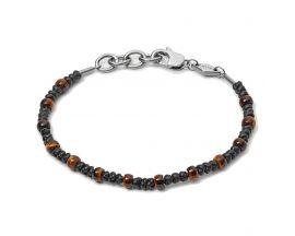 Bracelet acier & oeil de tigre Fossil - JF03617040