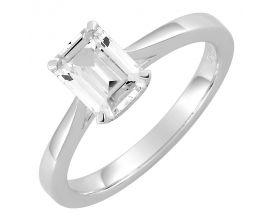 Bague solitaire or blanc & diamant synthétique Diamanti - DS1022.21