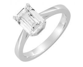 Bague solitaire or blanc & diamant synthétique Diamanti - DS1023.21