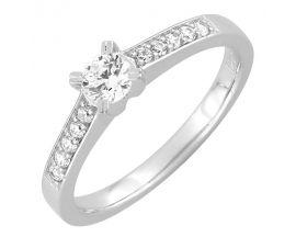 Bague solitaire or blanc & diamant synthétique Diamanti - DS1030.21