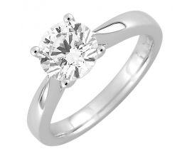 Bague solitaire or blanc & diamant(s) synthétique(s) Diamanti - DS1005.21