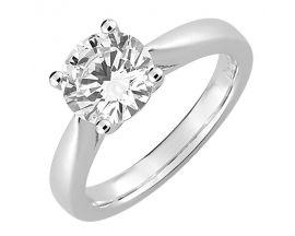 Bague solitaire or blanc & diamant(s) synthétique(s) Diamanti - DS1006.21