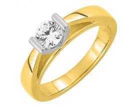 Bague solitaire or & diamant(s) synthétique(s) Diamanti - DS1011.22