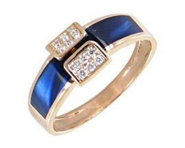 Bague or rose diamant(s) Clozeau - F683DBPR
