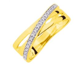 Bague or & oxydes Robbez Masson - 672067
