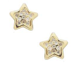 Boucles d'oreilles étoiles boutons or Stepec - BPXXJ