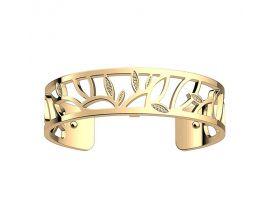 Bracelet manchette Les Georgettes - Arbre de vie Précieuses finition or 14 mm