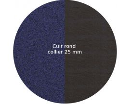 Cuir collier Les Georgettes - Nuit étoilée/Brun écorce rond 25 mm