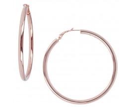 Boucles d'oreilles créoles plaqué or rose Bronzallure - WSBZ00310.B