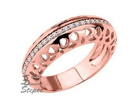 Bague empierrée plaqué or rose GL Paris -Altesse - 70236224008