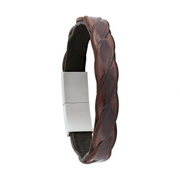 Bracelet cuir & acier Jourdan - JH150018B