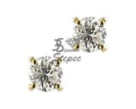 Boucles d'oreilles boutons or & diamant(s) Stepec - 74825D/ALP