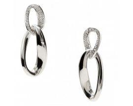 Boucles d'oreilles pendants argent & oxydes LINEARGENT - 16565-A