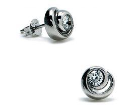 Boucles d'oreilles boutons argent & oxydes LINEARGENT - 11063-A