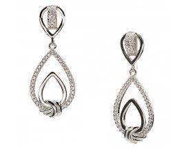 Boucles d'oreilles pendants argent & oxydes LINEARGENT - 18348-A