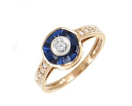 Bague or rose diamant(s) Clozeau - F705DBPR