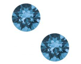 Boucles d'oreilles boutons Indicolite - PURON207