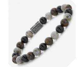 Bracelet perles Rebel & Rose Mix Brown 8 mm - RR-8S007-S