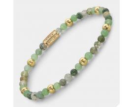 Bracelet perles Rebel & Rose Green Morning Vibes 4 mm - RR-40066-G