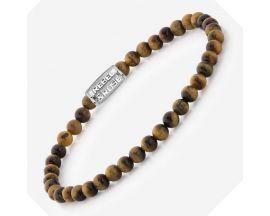 Bracelet perles Rebel & Rose Tiger Lily 4 mm - RR-40012-S