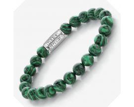 Bracelet perles Rebel & Rose Malachite Green 8 mm - RR-80080-S