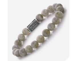 Bracelet perles Rebel & Rose Labradorite Shield 8 mm - RR-8S005-S