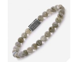 Bracelet perles Rebel & Rose Labradorite Shield 6 mm - RR-6S005-S