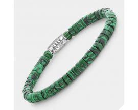 Bracelet perles Rebel & Rose Malachite Green 6 mm - RR-60093-S