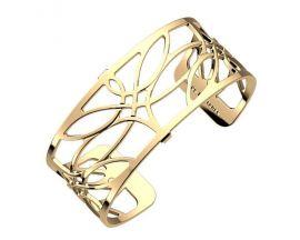 Bracelet manchette Les Georgettes - Libellule finition or 25 mm