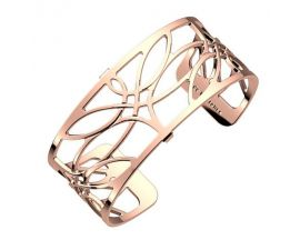 Bracelet manchette Les Georgettes - Libellule finition or rose 25 mm