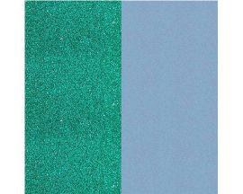 Cuir bracelet Les Georgettes - Paillettes turquoise/Bleu ciel 14 mm