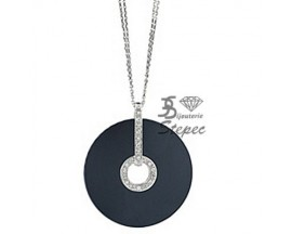Collier empierré or céramique et diamants Jeell - FL510GCNB