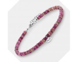 Bracelet de cheville perles Rebel & Rose Anklet Slices Hot Pink - RR-AK008-S