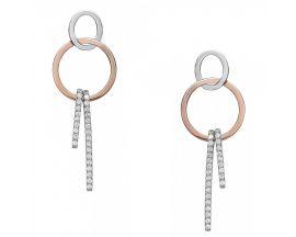 Boucles d'oreilles pendants argent & oxydes LINEARGENT - 18451-A