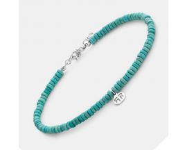 Bracelet de cheville perles Rebel & Rose Anklet Slices Turquoise - RR-AK005-S