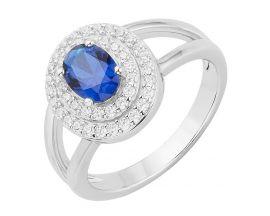 Bague argent oxydes & spinelle bleue Phebus - 70100646