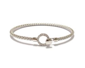 Bracelet jonc argent et oxydes Valenzi - TR39100W