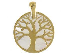 Pendentif or arbre de vie nacre Lucas Lucor - PA127