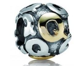 Charm argent & or Pandora - 790298-Q