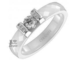 Bague céramique et argent Ceranity - 1-12-0041-B