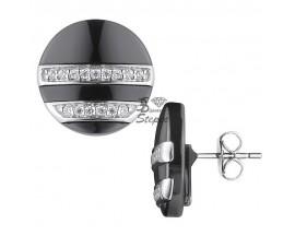 Boucles d'oreilles boutons céramique et argent Ceranity - 1-42/0030-N