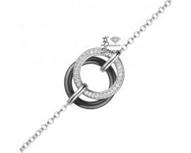 Bracelet céramique & argent Ceranity - 1-32-0030-N