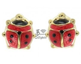 Boucles d'oreilles boutons or Stepec - TOPU