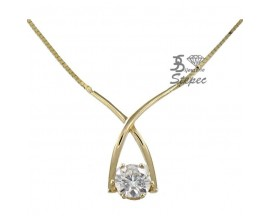 Collier or Moissanite - 880122