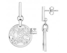 Boucles d'oreilles pendants céramique & acier Ceranity - 904-040.B