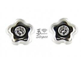 Boucles d'oreilles boutons or Stepec - EOSE